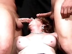 Mom fucks from behind n gets facial