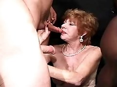 Wife sucks black cock n tastes cum