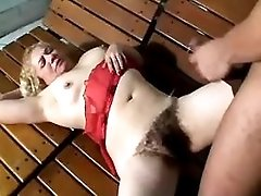 Mature gets white and black cocks