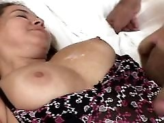 Hot milf loves hard cock in mouth and pussy