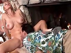 Blonde milf gets muff diving and does blowjob