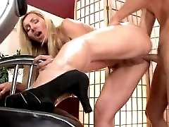 Nice mature sucks cock and has sex from behind