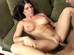 Brunette milf fucks in diff poses