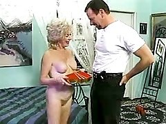 Mature gets facial after hard orgy