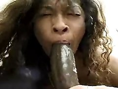 Mom sucks black cock n gets facial