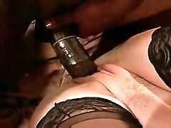 Mature gets cumshot from black cock