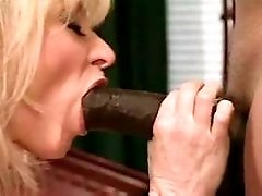 Sexy blond mature has oral w blacky