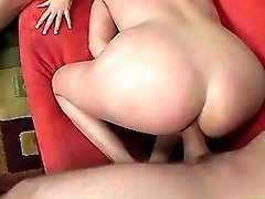 Milf gets facial from three cocks