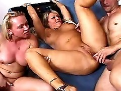 Mommy stuffed w two dicks n dildo