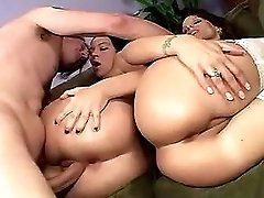 Busty mature sucking cock in pool