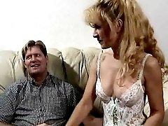 Cute milf gets facial after hot sex