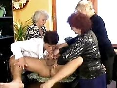 Old mom sucks black cocks and fucks