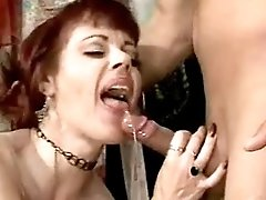 Milf has anal fuck and gets facial