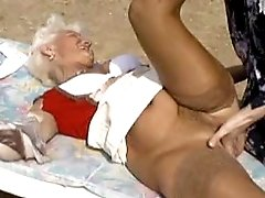Two milfs fuck w man and get facial